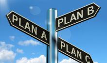 Billede af skilte Plan A B C