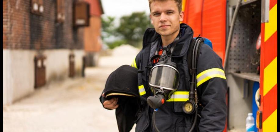Rasmus Brohave som brandmand